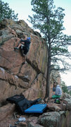 Rock Climbing Photo: Michael Reese on the North Shelf Block during a wa...