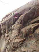 Rock Climbing Photo: Katie Kelble (age 10) pulls the lip.