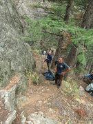 Rock Climbing Photo: The belay area.