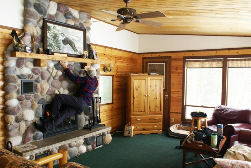 Rock Climbing Photo: fighting cabin fever in Eagle River, WI