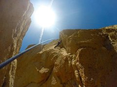 Rock Climbing Photo: Chad Parker on Lesson Learned 5.11a