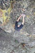 Rock Climbing Photo: Adam Huxley on Zion Train.  Photo: Steve Grigel.