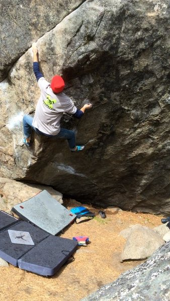 5.10 hiangle killin it on steep granite.