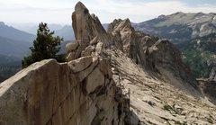 Rock Climbing Photo: L to R= the Fin, Moro Rock, Hamilton Towers w/ Ham...
