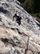 Rock Climbing Photo: Slab fun up on Little Baldy