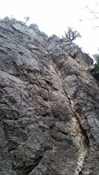 Rock Climbing Photo: One of the best, short Trad routes in the canyon.
