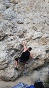 Rock Climbing Photo: a mock photo of the start of this route.