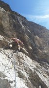 Rock Climbing Photo: Really, really bad photo of this route, just enjoy...