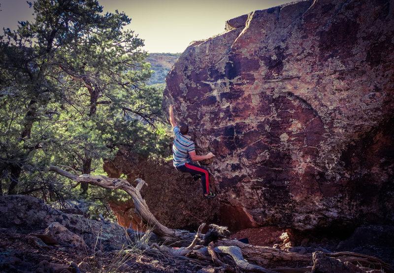 Rock Climbing Photo: The move to the PINCH! on My Fleshy Oslo.