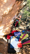 Rock Climbing Photo: Eyeing the crux move to the pinch on My Fleshy Osl...