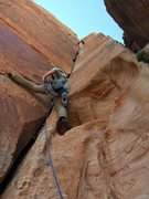 """Rock Climbing Photo: Josie McKee leading the """"Double White Russian..."""