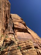 Rock Climbing Photo: Josie McKee leading P4 The Mustard Corner 5.10+