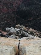 "Rock Climbing Photo: Josie McKee following the crux P17 ""The Jesus..."