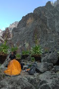 Rock Climbing Photo: The Kami Hut area and our final camp before our cl...