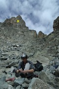 Rock Climbing Photo: Putting on approach shoes for the extensive gully ...