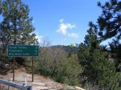 Rock Climbing Photo: School Rock (circled) as seen from town, Running S...
