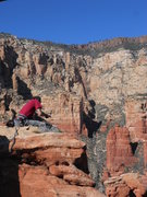 Rock Climbing Photo: Hand Drill!
