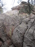 Rock Climbing Photo: I think this is the route (the left crack of the t...
