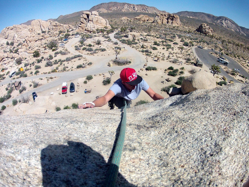 Rock Climbing Photo: Steve Okeefe summiting.