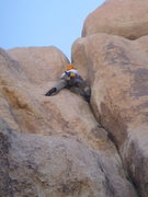 Rock Climbing Photo: Dow leading Hands Off - JTree