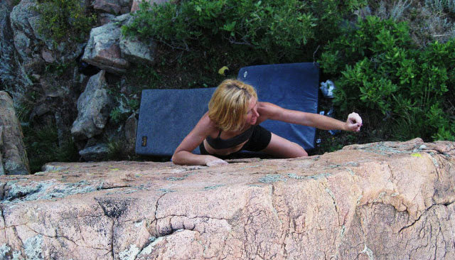 Rock Climbing Photo: TR FA, V1.