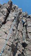 Rock Climbing Photo: Deb gets into chimneys.