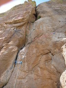 Rock Climbing Photo: as you can see from the photo, the route protects ...