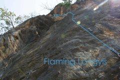 Rock Climbing Photo: Flaming Longyis