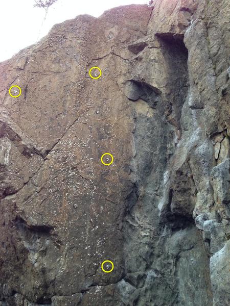Rock Climbing Photo: A0 bolt ladder?