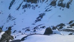Rock Climbing Photo: Looking down north face of Emma and the ski line f...