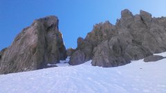 Rock Climbing Photo: Looking up Gilpin's south face couloir. This h...