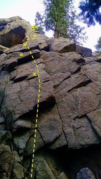 Wonderful climb, wish the top (wide) crack was longer, because it was so much fun.