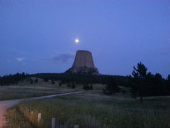 Moon over Devil's Tower