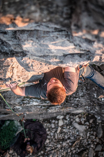 Rock Climbing Photo: Johnny on his first lead ever. Climbing Syzygy on ...