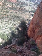 Rock Climbing Photo: View from top of 1st pitch.