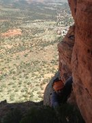 Rock Climbing Photo: The bush doctor approaching the top of the 3rd pit...