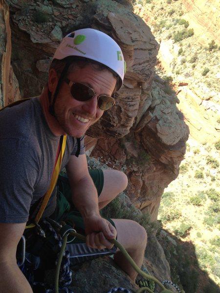 Rock Climbing Photo: Matt on top of Pitch 3