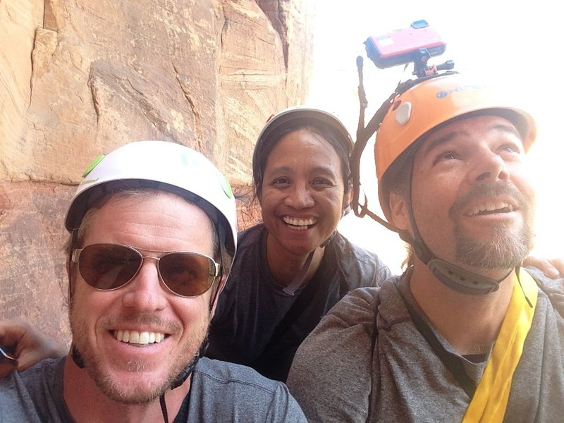 Rock Climbing Photo: Matt Johnson, Arlene Cherniak, Troy Dixon top of p...
