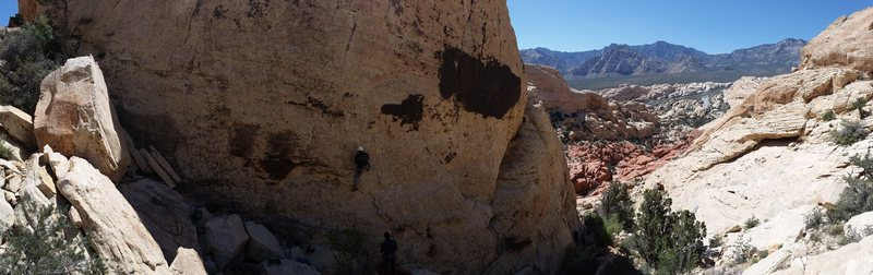 panoramic at the Mass production wall (Sandstone quarry)