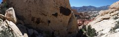 Rock Climbing Photo: panoramic at the Mass production wall (Sandstone q...