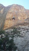 Rock Climbing Photo: Kc on three pump chump!