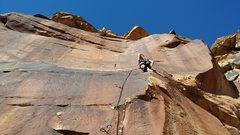 Rock Climbing Photo: Me rockin my first 11c onsight! Good times!