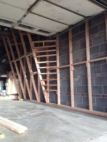 wall 16.5ft overall, 11ft overhang and 7ft vertical traverse
