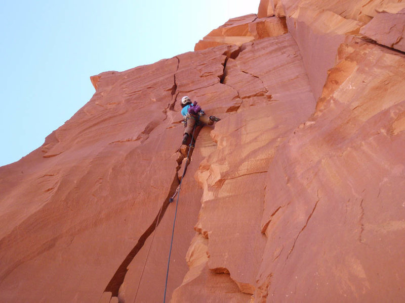 Rock Climbing Photo: Lizzy Scully on Pitch 2 of Sucker Punch
