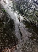 Rock Climbing Photo: The first section of the route