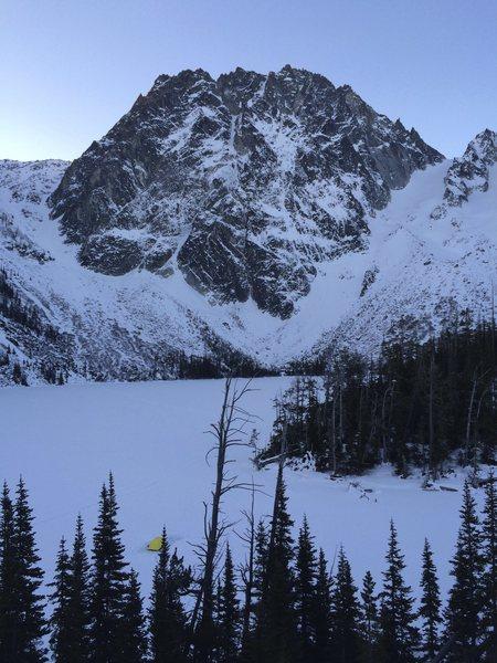 Rock Climbing Photo: Dragontail and Colchuck Lake