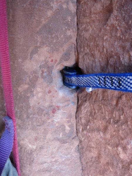 Rock Climbing Photo: Pendulum pitch.