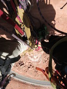 """Rock Climbing Photo: Looking down from the final belay """"ledge&quot..."""