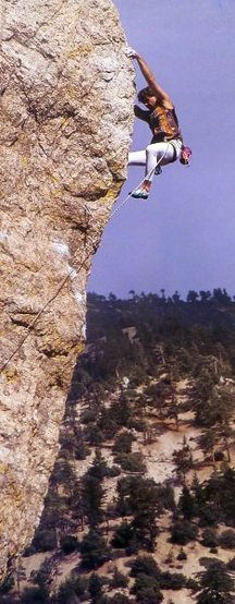 Rock Climbing Photo: Tom Gilje high above it all, Williamson Rock   Pho...