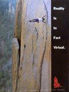 Rock Climbing Photo: No Fear advert (1993) featuring Dan Osman flagging...
